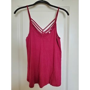 Express One Eleven Burgundy Tank Top!